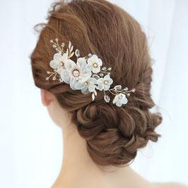 Haarschmuck Braut Haarkamm Blumen Perlen Gold Haarschmuck Hochzeit Kopfschmuck Braut N32007