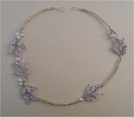 Brautschmuck Haardraht Gold Perlen Strass Vintage N2832 Haarschmuck Hochzeit Haarschmuck Festlich