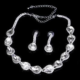Set/3 Stück Schmuckset Halskette Armband Ohrringe N5005