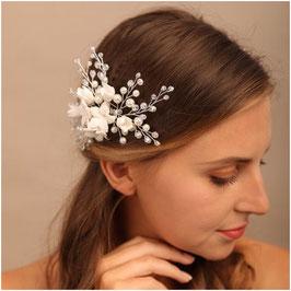 Haarschmuck Braut Haarklammer Blumen Perlen Haarschmuck Hochzeit N4028