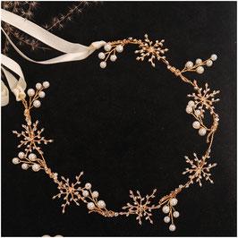 Haarband Gold Perlen Haarschmuck Braut Kopfschmuck Haarschmuck Hochzeit N2312