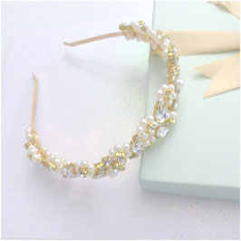 Haarschmuck Haarreif Gold Perlen Strass Haarschmuck Hochzeit Haarschmuck Braut  N11021