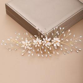 Haarschmuck Braut Haarkamm Gold Blumen Perlen Haarschmuck Hochzeit N3748 Haarschmuck Gold