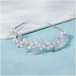 Haarschmuck Perlen Strass Silber Haarschmuck Braut Haarschmuck Hochzeit N1219