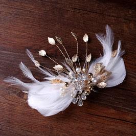 Haarschmuck Braut Haarklammer Gold Vintage Haarschmuck Festlich Kopfschmuck Hochzeit N4277