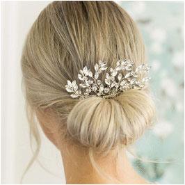 Haarschmuck Braut Haarkamm Silber Strass N33012 Haarschmuck Hochzeit