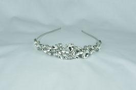 Haarschmuck Braut Diadem Tiara Braut Kopfschmuck Silber Perlen Strass N1707