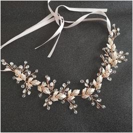 Haarband Rosegold Strass Perlen Kopfschmuck Braut Haarschmuck Rosegold Strass Perlen N2285 Brautschmuck Haare Haarschmuck Hochzeit