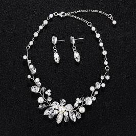 Schmuckset Perlen Brautschmuck Set Perlen N5479