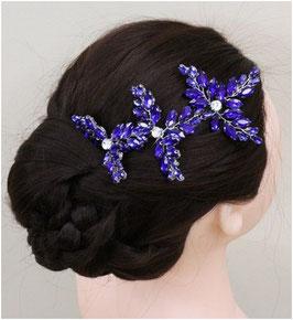 Set 3. Stück Haarnadeln Blau Art. N6772 Haarschmuck Braut Haarschmuck Hochzeit Haarschmuck Festlich