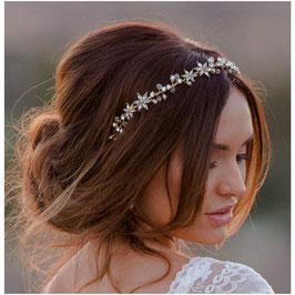 Haarband Gold Strass Perlen Brautschmuck Gold Haarschmuck Braut Kopfschmuck Haarschmuck Gold N2083