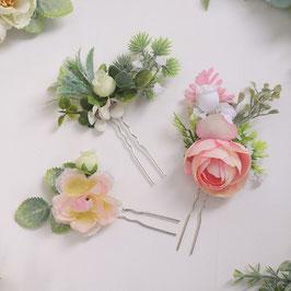 Set 3. Stk. Haarnadeln Blumen Haarschmuck Braut Haarschmuck Hochzeit Haarschmuck Festlich N6282
