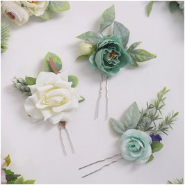 Set 3. Stk. Haarnadeln Blumen Haarschmuck Braut Haarschmuck Hochzeit Haarschmuck Festlich N6284