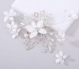 Haarschmuck Braut Fascinator Hochzeit Braut Haarklammer Perlen Blumen N45077 Brautschmuck Blumen