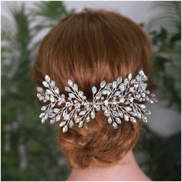 Haarklammer Strass Silber N47105 Haarschmuck Hochzeit Haarschmuck Braut