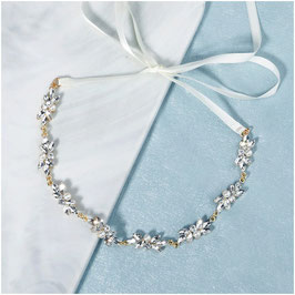 Haarband Strass Perlen Gold Haarband Braut Haarschmuck Hochzeit N2186