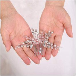 Haarschmuck Braut Haarkamm Perlen Strass Silber N3024 Haarschmuck Hochzeit Kopfschmuck Braut