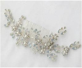 Haarschmuck Braut Haarkamm Blumen Perlen Silber N32078 Haarschmuck Hochzeit