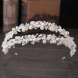 Haarreif Braut Haarreif Perlen Silber Haarschmuck Braut Haarschmuck Hochzeit N10801