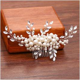 Haarschmuck Braut Haarkamm Perlen Haarschmuck Hochzeit Haarkamm Perlen Strass Silber N30003