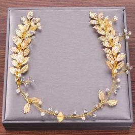 Haardraht Gold Perlen Braut Haarschmuck Gold Perlen N27255 Brautschmuck Haare Gold Haarschmuck Hochzeit