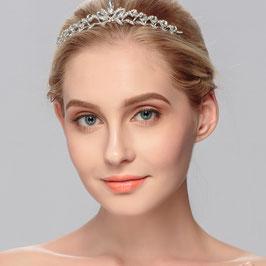 Diadem für Hochzeit Haarschmuck Silber N10040 Brautschmuck Diadem