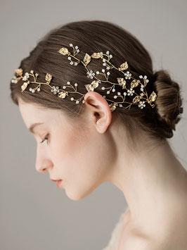 Haarschmuck Braut Haardraht Gold Perlen N20919 Brautschmuck Gold Perlen Haarschmuck Festlich Haarschmuck Hochzeit