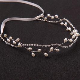 Haarschmuck Braut Haarband Silber Perlen Strass Vintage N2985 Brautschmuck Hochzeit Haarschmuck Festlich