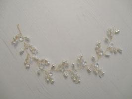 Haarschmuck Braut Haardraht Gold Perlen Hochzeit Haarschmuck Festlich N2064