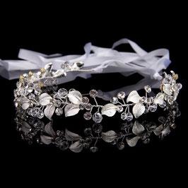 Haarband Silber Strass Perlen Haarschmuck Braut Haarschmuck Hochzeit N20781 Brautschmuck Silber Perlen Strass