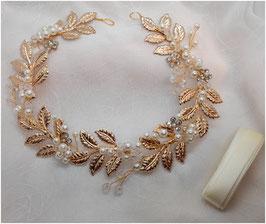 Haarband Gold Perlen Haarschmuck Braut Haarschmuck Hochzeit N22903