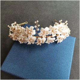 Diadem Blumen Perlen Gold Haarschmuck Braut Haarschmuck Hochzeit N1801