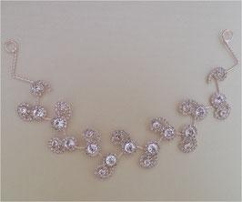 Haarband - Haardraht Rosegold Haarschmuck Hochzeit N24020
