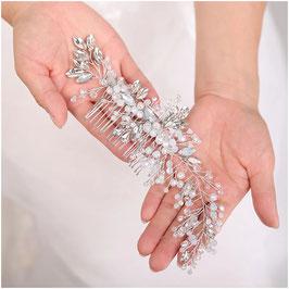 Haarkamm Perlen Silber Haarschmuck Braut Haarschmuck Hochzeit N3621