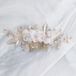 Haarschmuck Braut Haarkamm Blumen Perlen Gold Haarkamm Hochzeit Haarschmuck Kamm Gold Haarschmuck Gold Haarschmuck Blumen  N3072