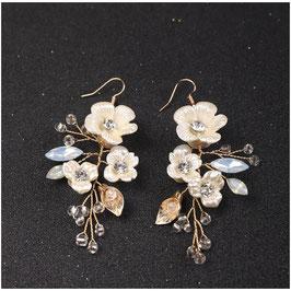 Ohrringe Blumen Perlen Strass N5209