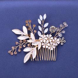Braut Haarkamm Gold Blumen Vintage Haarschmuck Braut N30006