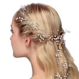 Haarschmuck Braut Haardraht Silber Perlen Braut Kopfschmuck Hochzeit Haarschmuck N27757 Brautschmuck Haare
