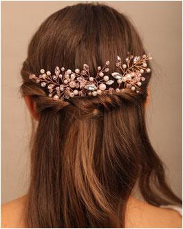 Set 3. Stück Haarnadeln Rosegold Perlen Strass Art. N6773 Haarschmuck Braut Haarschmuck Hochzeit Haarschmuck Festlich