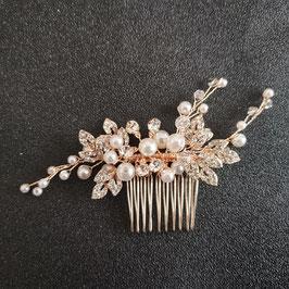 Haarschmuck Braut Haarkamm Rosegold Perlen Strass Vintage Hochzeit Haarschmuck Kamm Haarschmuck Rosegold N3377