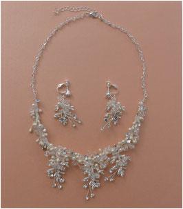 Schmuckset Perlen Brautschmuck Perlen Strass N5377