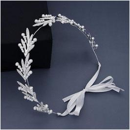 Haarband Silber Strass Perlen Haarschmuck Braut Kopfschmuck Haarschmuck Hochzeit N2302