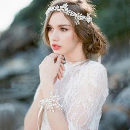 Haarband Braut Haarband Hochzeit Haarschmuck Perlen Strass Silber N20012
