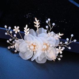 Haarklammer Braut Haarklammer Perlen Blumen Gold Haarschmuck Braut Kopfschmuck Hochzeit N47005