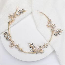 Haarband Gold Haarschmuck Braut Haarschmuck Hochzeit N22953