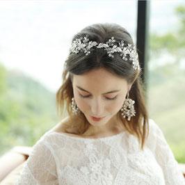 Haarband Silber Strass Perlen Kopfschmuck Braut Haarschmuck Silber Strass Perlen  N2284 Brautschmuck Haare Haarschmuck Hochzeit