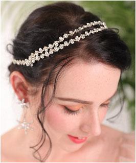 Haarband Strass Silber Haarschmuck Braut Haarschmuck Hochzeit N25012