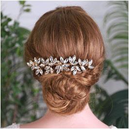 Haarschmuck Braut Haarkamm Hochzeit N33028-Gold Haarschmuck Hochzeit