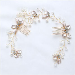 Haarschmuck Gold Perlen Vintage Haarschmuck Braut Haardraht Hochzeit N2978