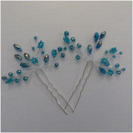 Haarnadeln Hochzeit Haarschmuck Braut Haarnadeln Perlen Haarschmuck Hochzeit (Set 2 Stück) N6501 Haarschmuck in Blau